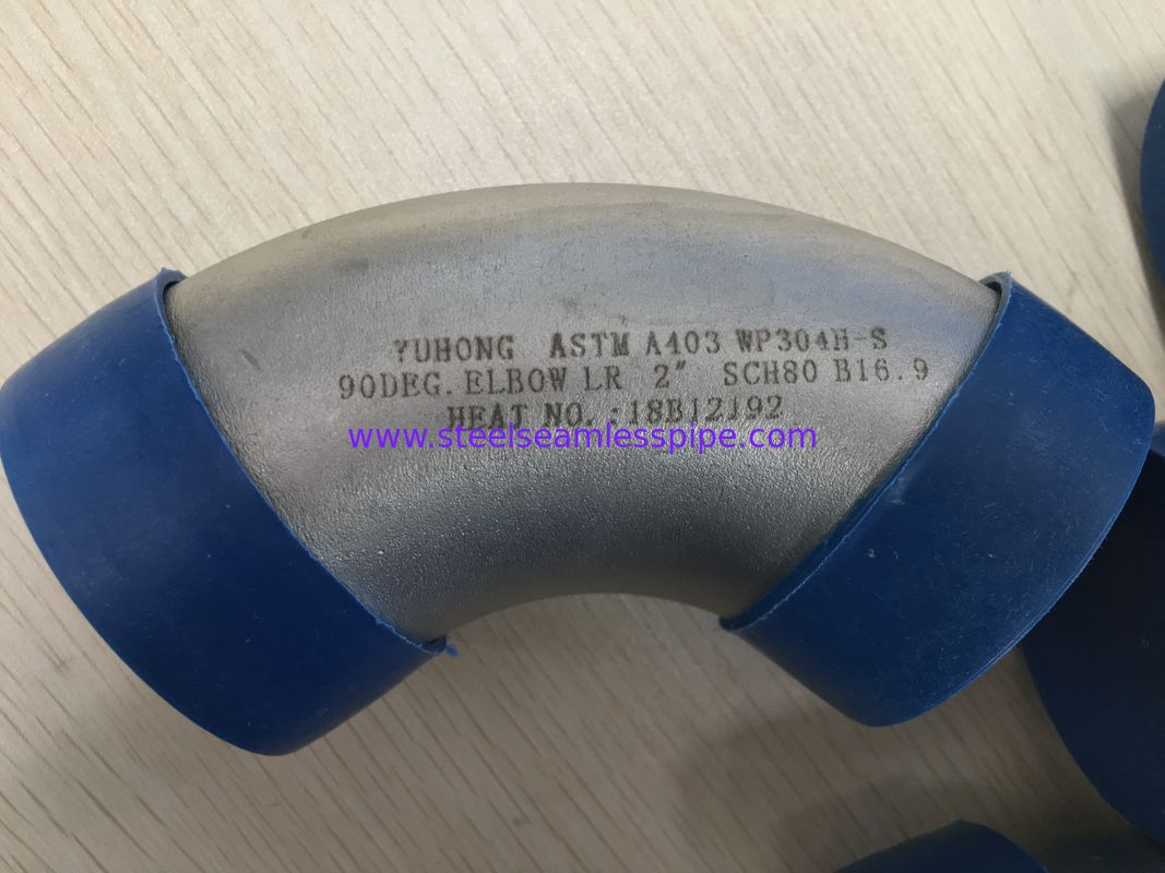 ASTM A403 WP304H Butt Weld Tube Fittings / Suer Duplex Elbow Pipe Fitting