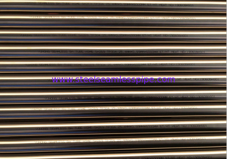 STAINLESS STEEL BRIGHT ANNEALED TUBE ASTM A269/asme sa269 TP304 25.4 X0.8 X 7000MM